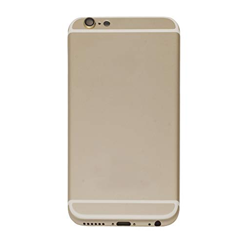 BEST SHOPPER Rear Back Battery Metal Door Housing Cover Case Replacement Part Compatible with Apple iPhone 6 4.7 inch - Gold
