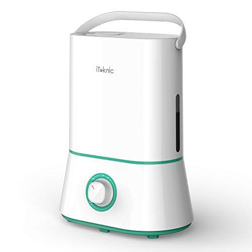 iTeknic Luftbefeuchter für Zuhause, Luftbefeuchter, Zimmer, Baby, 4 l, sehr leise, gute Selbonimie