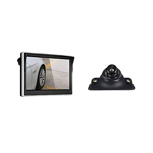 Monitor de aparcamiento de alta definición de 5 pulgadas Tft LCD Digital coche retrovisor Monitor con entrada de vídeo de 2 vías para cámara de marcha atrás/DVD/GPS