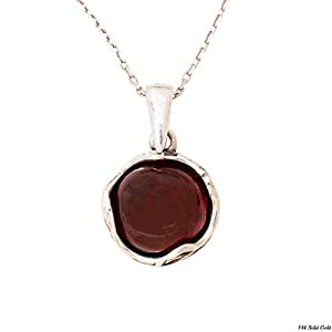 Dainty 925 Sterling Silver Garnet Necklace, January Aquarius Birthstone