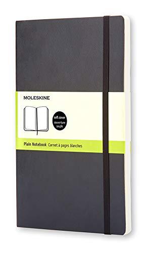 Moleskine Notizbuch, Large, A5, Leer, Soft Cover, Schwarz