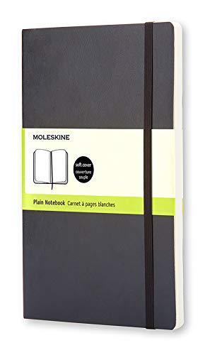 Moleskine Classic Notebook, Soft Cover, Large (5' x 8.25') Plain/Blank, Black, 240 Pages
