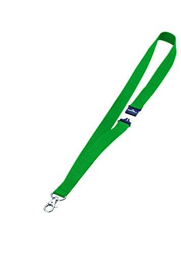 Duurzame textiel badge ketting met veiligheidssluiting - blauw, 10 stuks