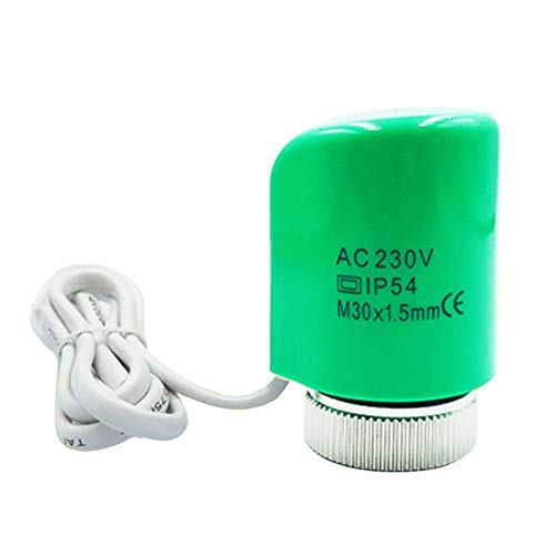 XHXseller Actuador térmico eléctrico de 230V 2W para colectores de calefacción por Suelo Radiante, válvula de Control de Temperatura del Separador de Agua para colector, antiflama, 8 Tipos