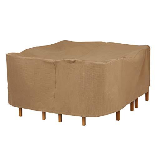 Duck Covers couvertures de Canard Essential carré Patio Table avec chaises Coque 76L x 76W x 32H Latte