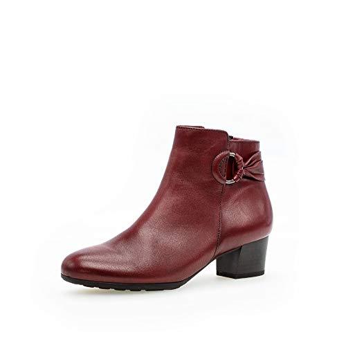 Gabor Botines elegantes para mujer, botines clásicos y cómodos., color Rojo, talla 39 EU Weit