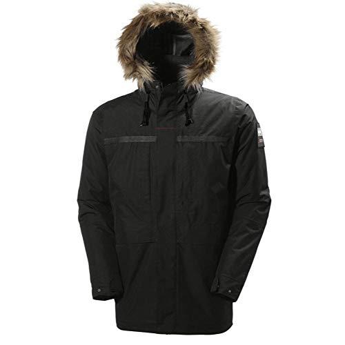 Helly Hansen COASTAL 2 Parka - Parkaacolchadaimpermeable para hombre, color negro, talla XXL