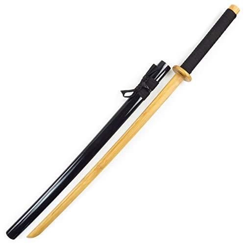 Espada de madera espada de bambú,con vaina,102 cm de longitud total,cuchillo de madera,katanas de madera,utilizada para entrenamiento de artes marciales,utilería para espectáculos Armas y accesorios