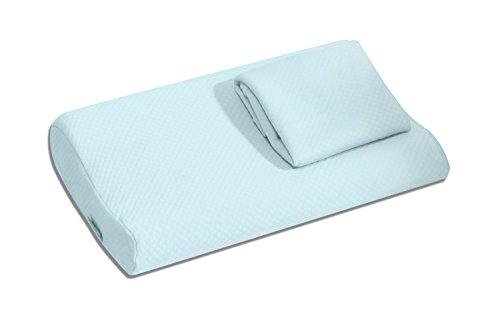 bonmedico Magic Pillow ergonomisches Kopf-Kissen ideal für Frauen oder Kinder, mit Gratis Bezug (40x26x8/6 cm)
