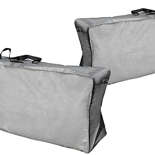 nxtbuy Aufbewahrungstasche Protect+ 2er Set für Polsterauflagen 130 x 32 x 50 cm - Schutzhülle für Gartenauflagen Gartenstuhlauflagen Auflagen - Auflagentasche Wasserdicht UV-Abweisend Winterfest