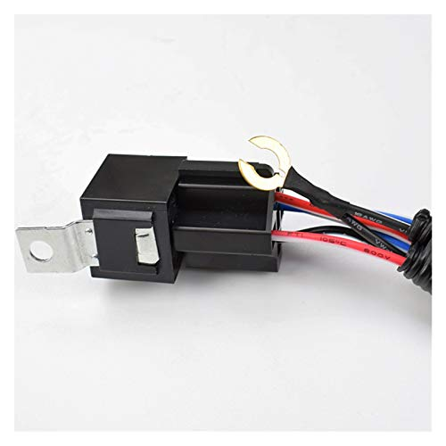 ZZSSHENG Zsheng 1 Juego eléctrico de 12V del Coche Universal Cuerno arnés de cableado de relé Fit Kit for el automóvil Camión de Carga explosiva Grille Monte Tono Cuernos