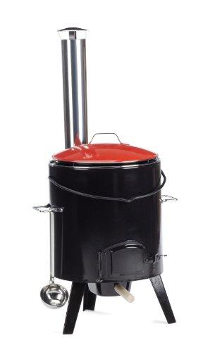 GrillChef Eintopfofen, schwarz, 14 Liter