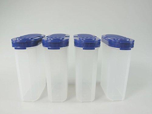 TUPPERWARE Gewürz-Riesen 270 ml blau (4) Gewürz Behälter Gewürzbehälter groß