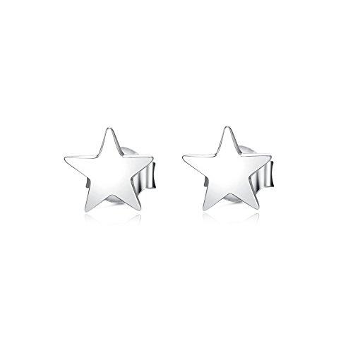 Sterne Ohrringe Ohrstecker 925 Sterling Silber Ohrringe für Frauen Mädchen Schmuck Geschenke (Ohrring aus Gestüt)