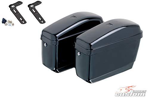 Customaccess AZ0554N Valises Rigides Customacces Easy (Paire) 12L Kawasaki Vulcan S (EN650AGF) '15-'18