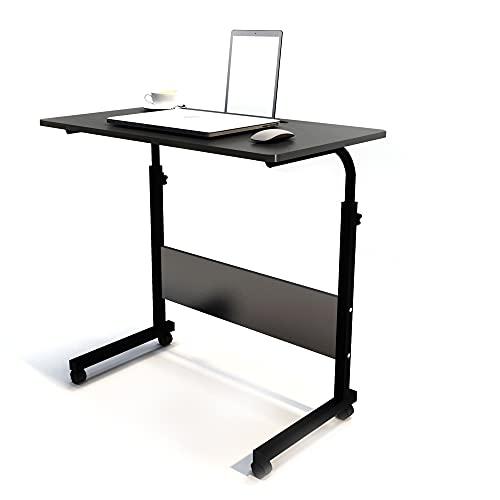 Mesa para portátil SogesHome, Regulable en Altura, Mesa para PC con Ruedas, mesita de Noche, mesita Auxiliar, Escritorio pequeño, Escritorio con Ranura
