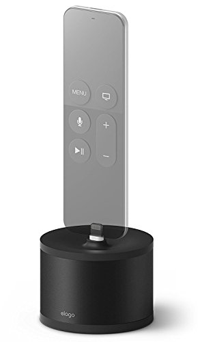 elago D Stand Charging Station [Black] - [Premium Aluminum][Cable Management][Scratch-Free] - for Apple TV Remote, iPhone, AirPods, iPad Mini, Wireless Keyboard, and Magic Mouse