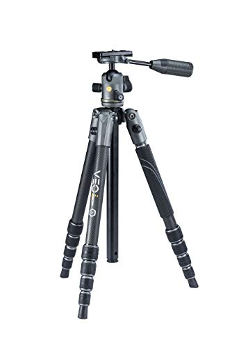Vanguard VEO2X 4 in 1 Travel Tripod, Monopod, Ball Head with Removeable Pan Handle (26 mm, Carbon Fiber)