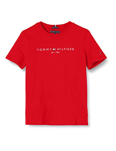 Tommy Hilfiger Essential Tee S/s Camicia, Deep Crimson, 74 Bambino