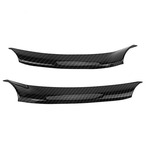 2pcs Auto Lenkradbezug, Keenso Trim Decal Carbon Lenkrad dekorative Aufkleber schwarz