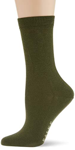 FALKE Damen Family Socken, grün (forest 7657), 39-42