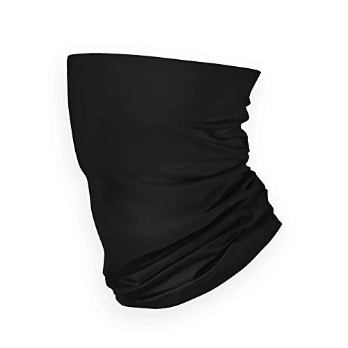MADE IN USA: Black Summer Weight Performance Neck Gaiter (Black)