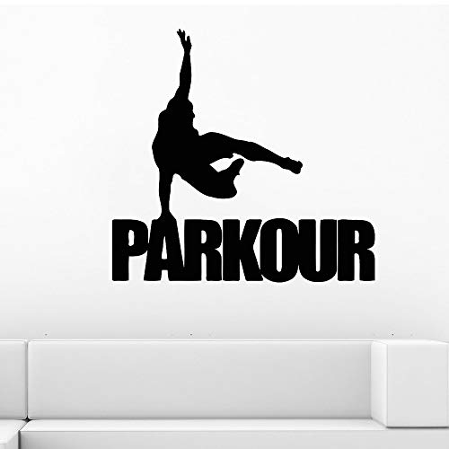 Tianpengyuanshuai Parkour muurstickers straat sport vinyl stickers gym art deco tiener jongen slaapkamer koele decoratie decals