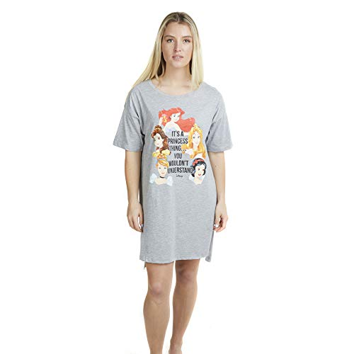 Disney Damen A Princess Thing Sleep Tee Nachthemd, Grau (Sport Grey SPO), (Herstellergröße: Small)