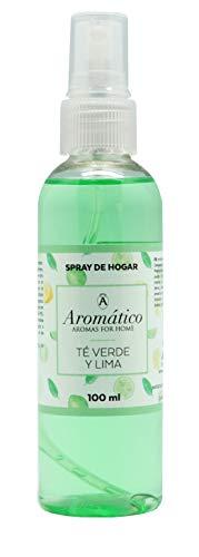 Aromatico, Ambientador en Spray 100 ml. Fragancia Te Verde Lima, ambientador para hogar y Oficina, ambientador sin Alcohol.