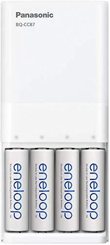 Panasonic eneloop - Cargador rápido USB Cargador rápido USB con 4 pilas eneloop AA.