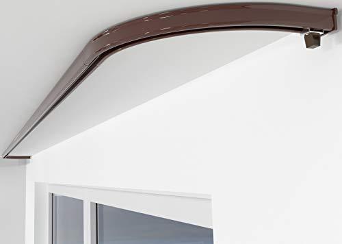 ALOHA Gardinenschiene aus Aluminium Vorhangschienen, Deckenbefestigung 1-läufig für Schiebevorhänge, Vorhänge (ITU / 1-läufig / Rundbogen Paar / Braun)