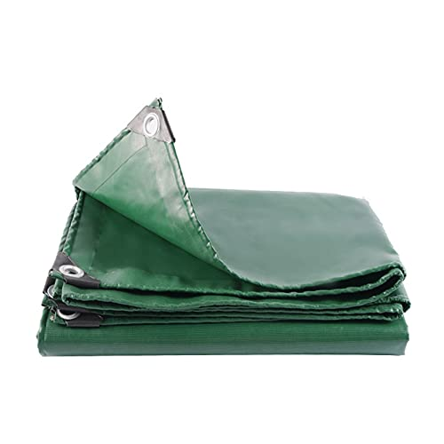 Lonas Cubierta de Lona Gruesa para Exteriores de Alta Resistencia, Lona de PVC Multiusos con Ojales, Retardante de Llama e Impermeable, Rip Resistente, Verde (Size : 4 * 10m/13.1 * 32.8ft)