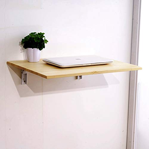 LHF123 Mesa Plegable De Pared, Mesa para Ordenador Mesa Portátil, Pared De Cocina Mesa para Estudio Mueble Infantil Mesa para Comer Escritorio, Carga hasta 15kg(50×30cm/19.7×11.8 Inch)