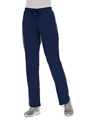 ELEMENTS BY ALEXANDERS UNIFORMS Women's EL9305 Half Elastic Waistband Four Way Stretch Scrub Pant (Navy, Large)