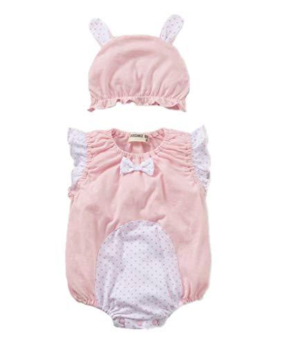 YiyiLai YiyiLai Cartoon Design Neugeborene Junge Mädchen Babykleidung Playsuit Kleidung Set Strampler Bodysuit Outfit 80 Hellpink