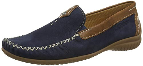 Gabor Shoes Damen Comfort Basic Slipper, Blau (Navy/Copper 46), 44 EU
