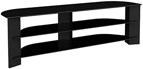 AVF 'Varano' Corner New item TV Stand Max 45% OFF Black Frame with 1500 Glass