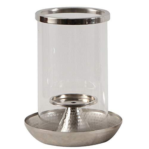 HJSP Candelero Portavelas Moderno candelabro de Metal Resistente al Calor Claro Vela de Cristal Titular de la Boda Fina Candelabro Comedor decoración del hogar Vela Strand Candelabro Boda