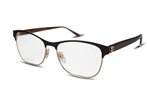 Gucci - GG 4285, Rechteckig, Metall, Damenbrillen, MATTE BROWN GOLD(QY9), 54/16/145
