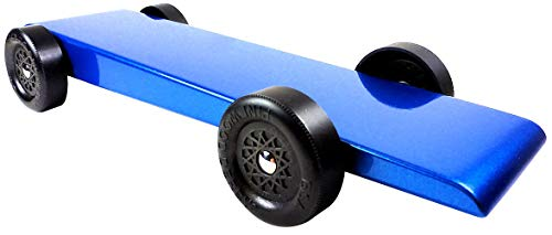 Pinewood Pro Pine Derby Car Kit with PRO Graphite - Painted, Weighted and Ready to Race - Blue Marlin