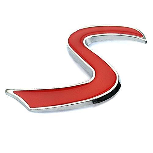Moosungeek Mini Rosso S Auto griglia Anteriore Emblema Distintivo per Auto Mini Cooper S JCW Grill Cappuccio