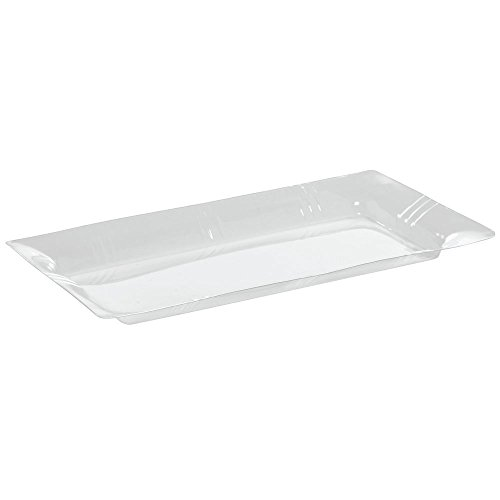 "American Metalcraft Clear PET Liner for Rectangular Bamboo Platter - 13 3/4""L x 7 1/4""W x 1 1/2""H"