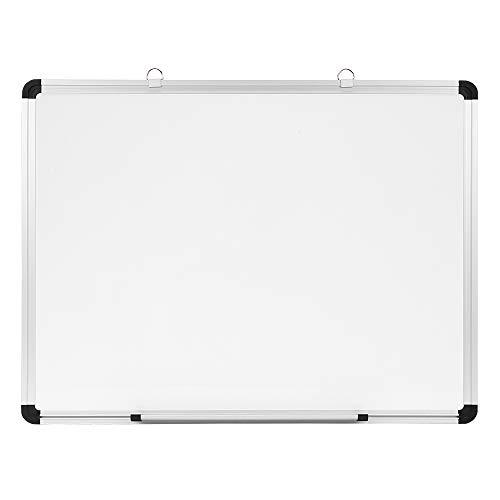 Eono by Amazon - Pizarra blanca con moldura de aleación de aluminio y sujeciones, ideal para casas, colegios y oficinas, 60 x 45cm