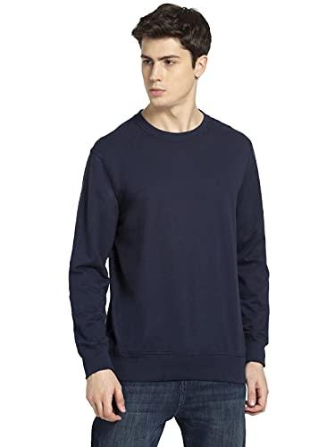 Jockey Men's Blouson Cotton Sweatshirt (2716_Navy_M)