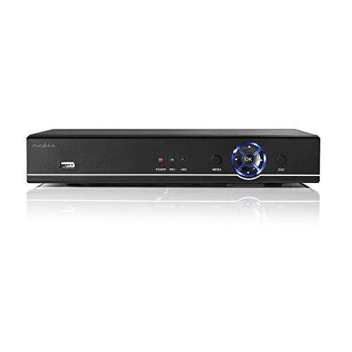 Nedis - CCTV-beveiligingsrecorder, set - 4x Camera inbegrepen - Full HD - Inclusief 1 TB harde schijf - Bewegingssensor - Nachtzicht - Met App