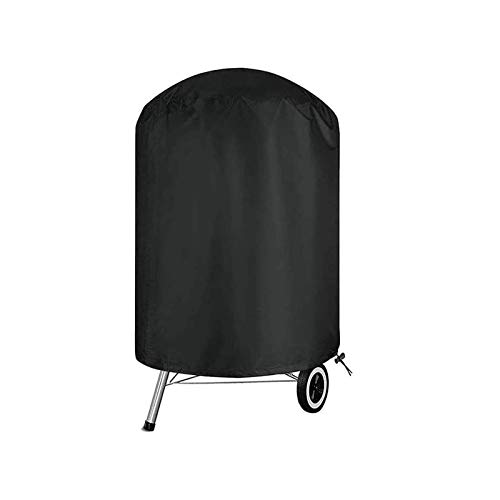 POMER BBQ Grill Cover Round, Durable Waterproof and UV-Resistant Outdoor Garden Grill Cover with Drawstring Cord