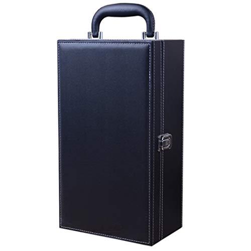 Bageek Caja de Vino Caja de Botella de Vino con Asa Superior Creativa Caja de Regalo de Vino con Accesorios de Vino