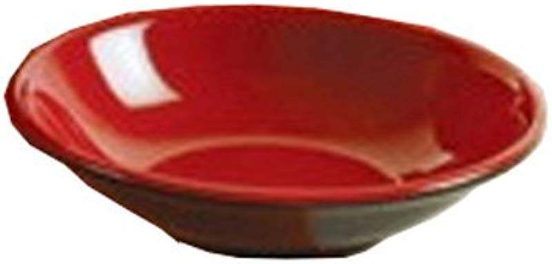 Yanco CR 1028 Black And Red Two Tone Sauce Dish 3 75 Diameter Melamine Black Red Color Pack Of 72