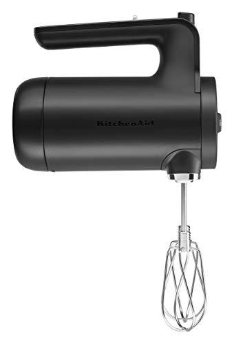 KitchenAid KHMB732BM Cordless Hand Mixer, 7 Speed, Black Matte