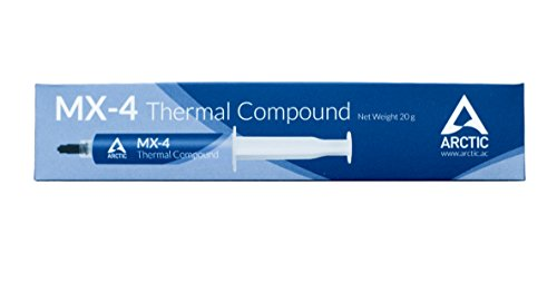 Arctic MX-4 - Thermal Compound Paste For Coolers | Heat Sink Paste | Composed of Carbon Micro-particles | Easy to Apply | High Durability - 20 Grams